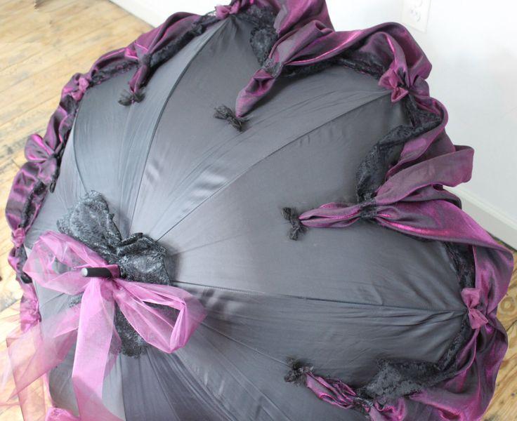 Lace Trimmed Parasol Goth Umbrella Neo Victorian Style Cosplay Elegant Gothic Lolita EGL Steampunk Clothing Gothic Funeral Visual Kei Eva V2 by TenebraeSancta on Etsy https://www.etsy.com/listing/227462059/lace-trimmed-parasol-goth-umbrella-neo