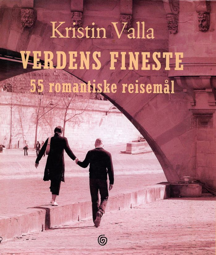 Kristin Valla portrays destination that can give the reader a romantic experience. The book includes 55 of the most romantic destinations and hotels, among which are Paris, Malaysia, Mallorca and Santorini.