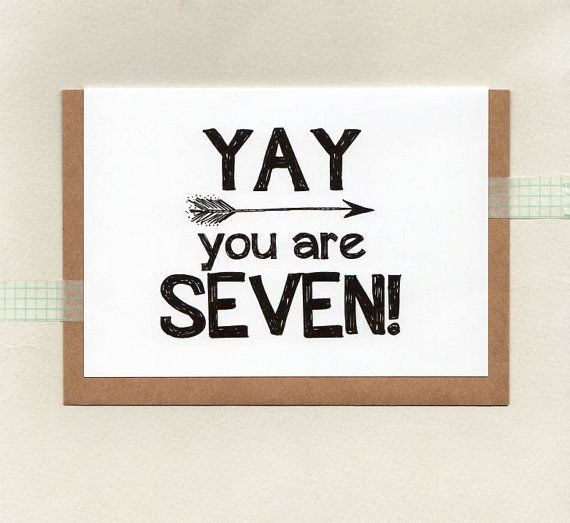 YAY you are SEVEN or choose another age . kids by ThePaisleyFive