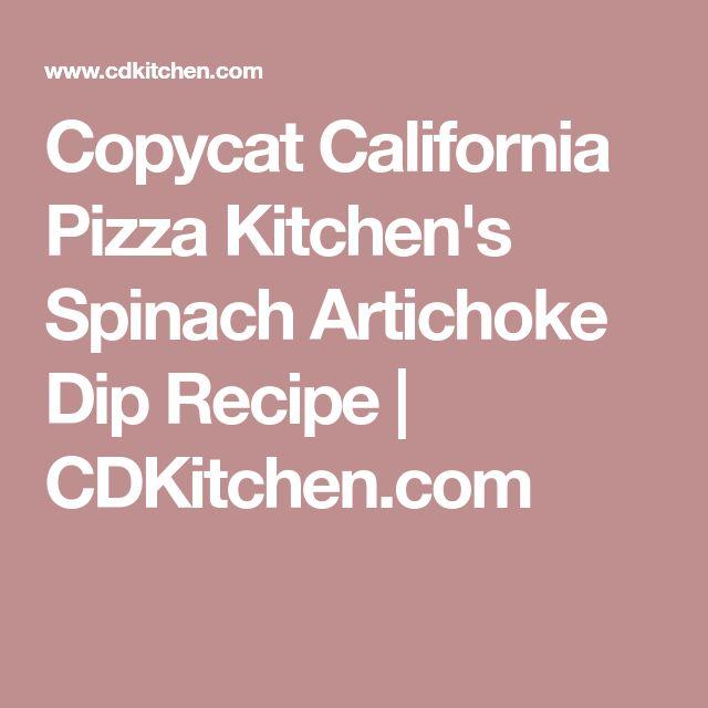 Copycat California Pizza Kitchen's Spinach Artichoke Dip Recipe | CDKitchen.com
