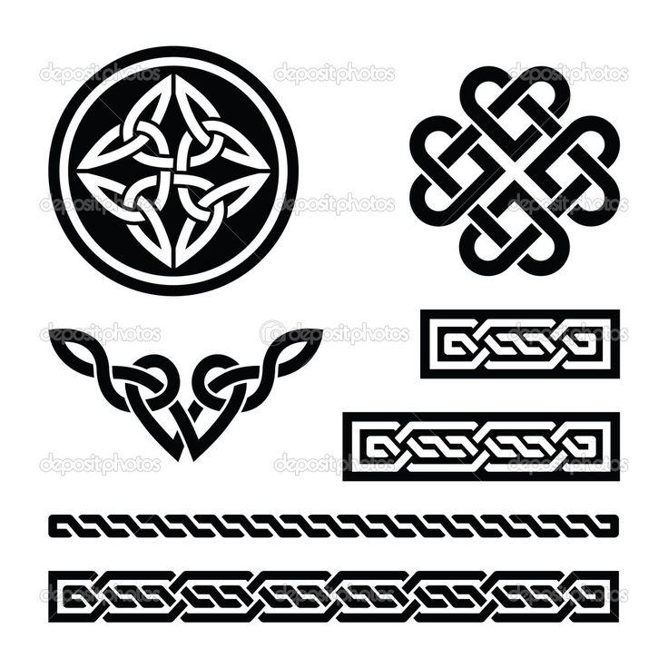 Nós celtas, tranças e padrões - vector — Vector Stock © Agnieszka ...