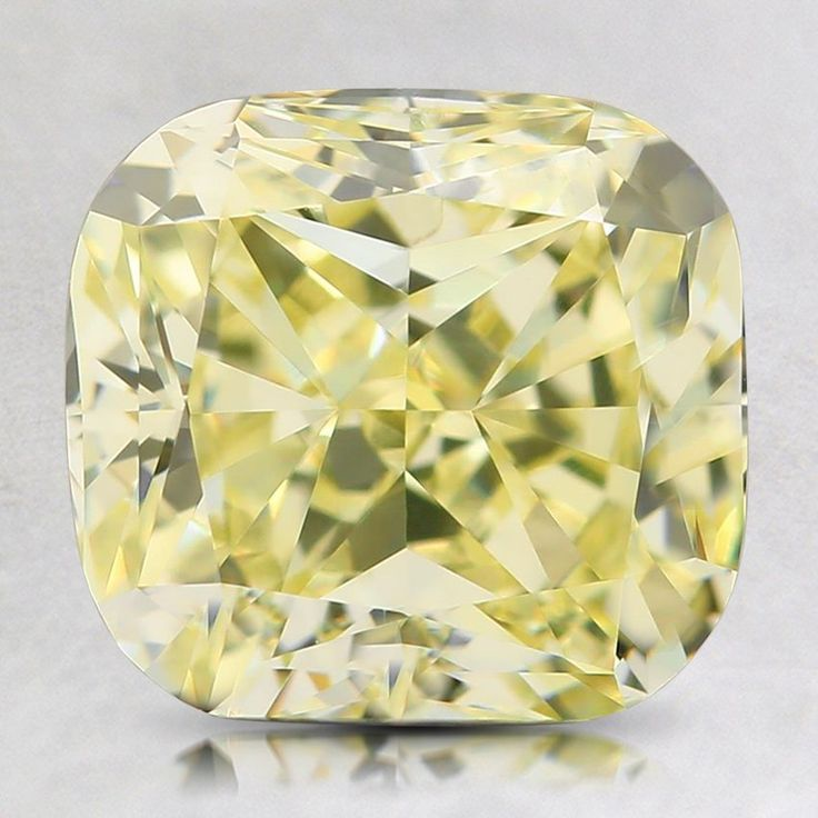 Loose Natural Fancy Light Yellow Cushion Diamond - 2.01 ct.