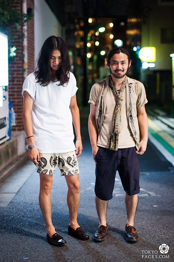 tokyo fashion street style two men in harajuku