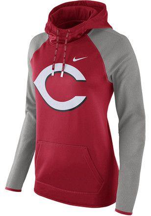 Nike Cincinnati Reds Womens Red Therma Hoodie