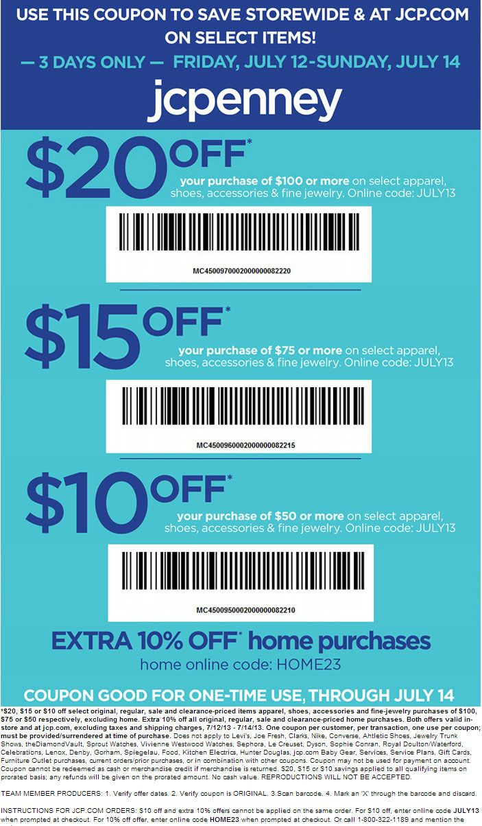 Kirklands coupons december 2013 - Jcpenney 10 20 Off Printable Coupon Coupon Pinterest Printable Coupons And Coupons