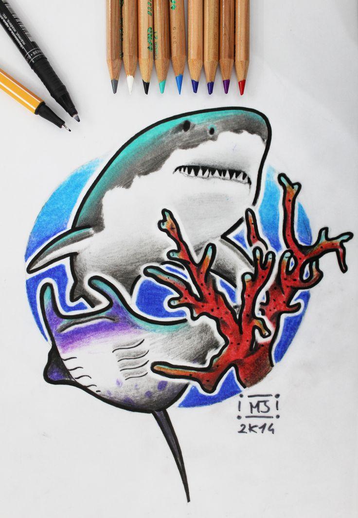 #sea #shark #marineanimals #coral #cartoon #sketch #sketchcartoon #flash #drawing #illustrationi #disegni #arte #flashtattoo #illustrationitattuaggi #tattoo #tatuaggi #mrjacktattoo