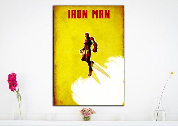 Iron Man Minimalist Art Print Poster Marvel by HarknettPrints