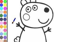 JuegosdePeppa.com - Juego: Colorear Susy Sheep Pintar Dibujos Online Juegos Peppa Gratis Online