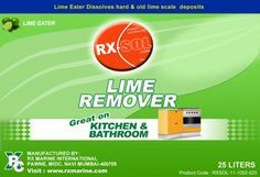 Lime Scale Remover KITCHEN & BATHROOM CLEANER , lime eater dissolves hard and old lime scale deposits from your appliances. It extends the life of the appliance and saves running cost. It can be used in appliances such as Washing Machines, Dish Washers, Geysers, Steam Iron, Coffee Makers, Bath Tubs, Bathroom Fixtures etc. It is a blend of surfactants, chelating agent, organic thickener, quaternery halide, phosphoric acid and perfume. It is the ultimate in washroom cleaning and can be