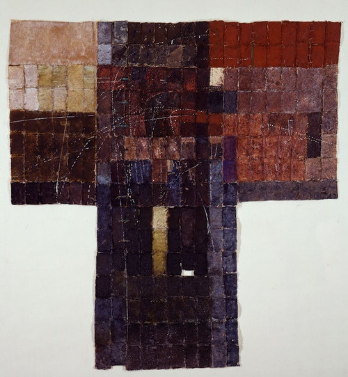 D-2.Mar.1990  218x208cm  paper making, painting, collage  林孝彦 HAYASHI Takahiko 1990 this photo by Galerie Tokyo Humanité