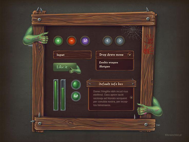 Zombie GUI set