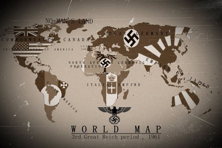 Alternate History World Map 3rd Reich 1961 by KevinAuzan.deviantart.com on @DeviantArt