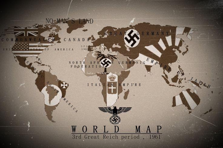 Alternate History World Map 3rd Reich 1961 by KevinAuzan.deviantart.com on @DeviantArt
