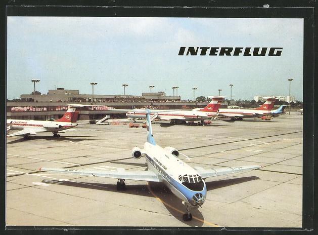 Interflug (DDR) - AK Berlin, Flughafen Schönefeld