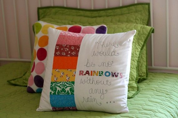 YW Value pillow: Could just do 8 small strips of fabric for a pillow front to learn about quilting