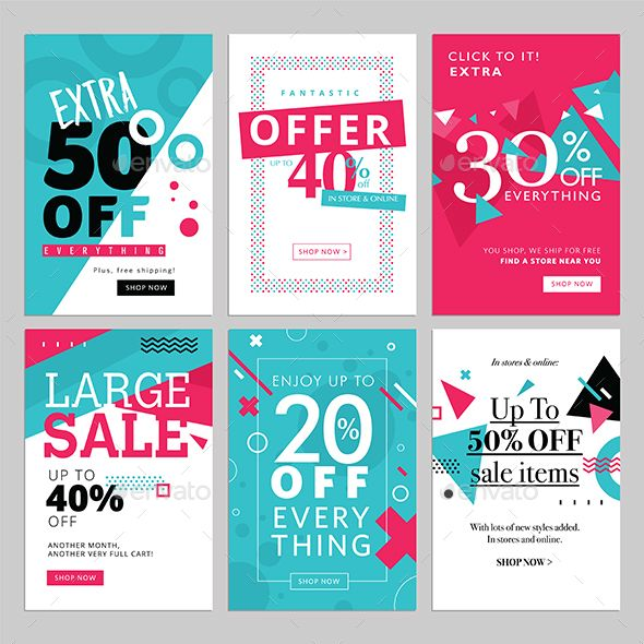 Social Media Sale Banners Template PSD, Vector EPS, AI Illustrator