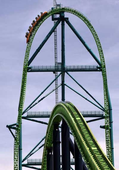 Kingda Ka! The tallest roller coaster in the U.S.A- Jackson , NJ . Are you brave enough?!?