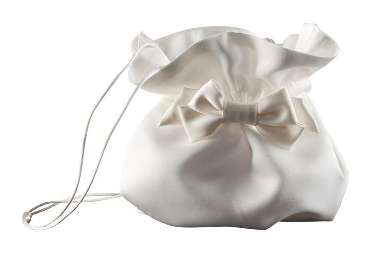 Hochzeitstasche - Beutel - ivory Elegante Hochzeitstasche mit Blüten von Weise Größe: ca. 15 x 15 x 9cm Farbe: ivory