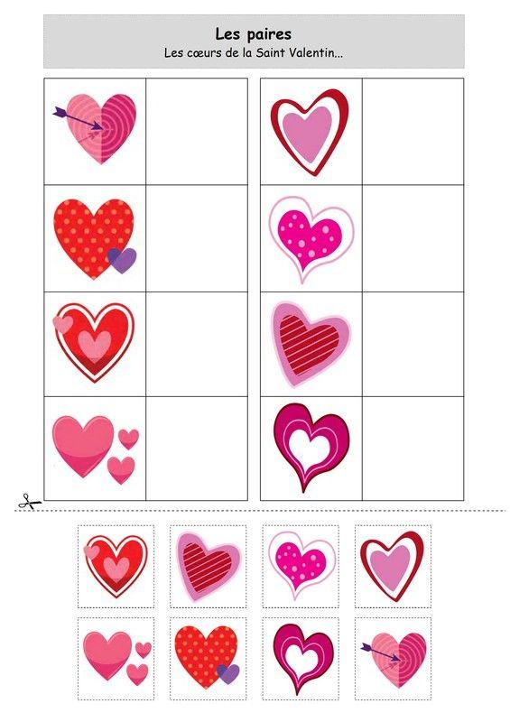 Les paires : Les coeurs de la Saint Valentin