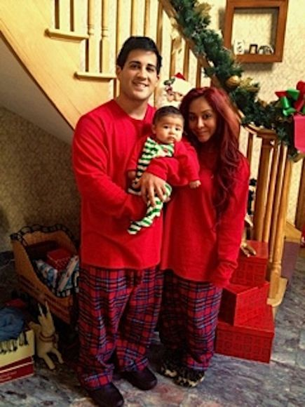 Snooki Nicole Polizzi Lorenzo's First Christmas