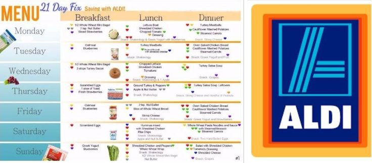 Weight Watchers Recipes and Tips. |   AFFORDABLE 21 DAY FIX WEEKLY MENU WITH ALDI (1,200 – 1,499 CALORIE PLAN)