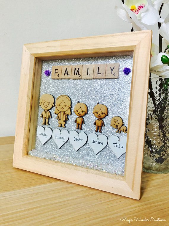 Family Frame 15cm x 15cm Personalised Family Picture Frame