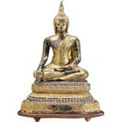 A Fine Thai Gold Gilt Bronze Statue Of Buddha