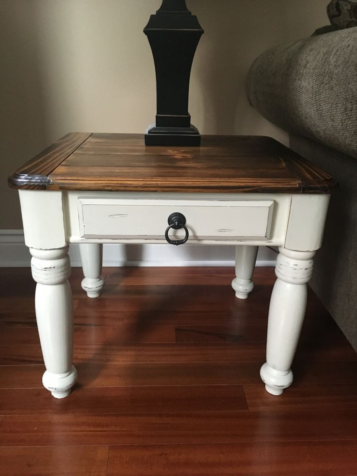 25 best refinished end tables ideas on pinterest for Black wood coffee table and end tables