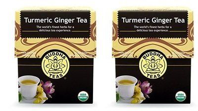 Turmeric Ginger Tea Organic Herbs 18 Bleach Free Tea Bags (2 Pack) * Check out the image by visiting the link.