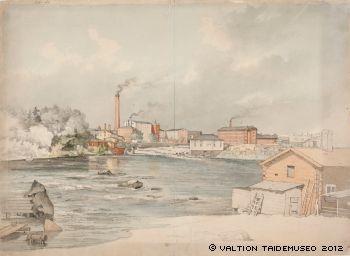 Magnus von Wright,   Tammerkoski, 1861