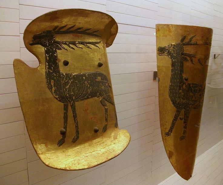 Shield and Pavise of Dalmau de Cervello, from the monastery of Valldecrist, late…