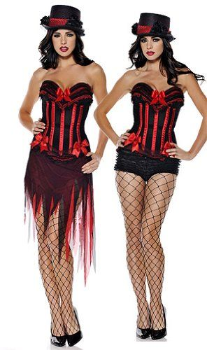 sexy burlesque moulin rouge corset tutu skirt fancy dress outfit hen party l moulin. Black Bedroom Furniture Sets. Home Design Ideas