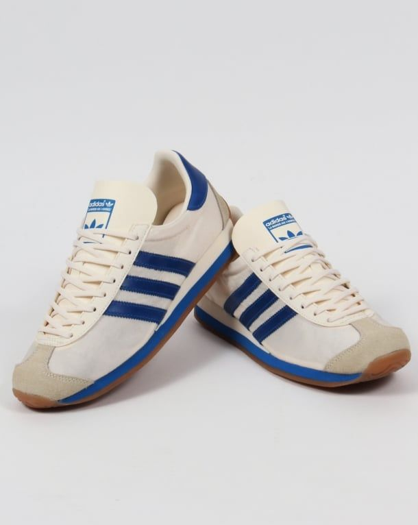 Adidas Country OG Trainers Chalk White/Bluebird,originals,shoes,mens,sneakers