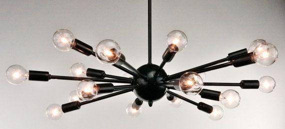 Sputnik Atomic Lamp Mid Century Light Chandelier Oil Rubbed Bronze Modern Eames