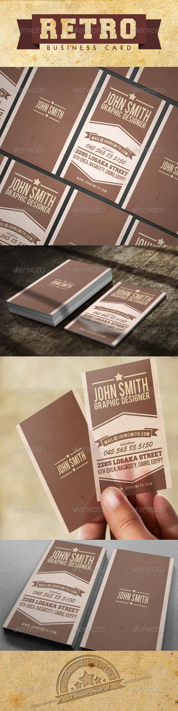12 best brochures flyers images on pinterest corporate identity retro new business card colourmoves