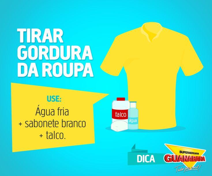 Tirar gordura da roupa — Supermercados Guanabara