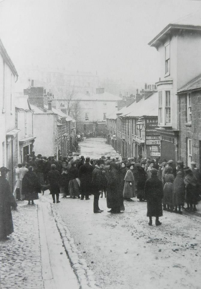 Tregenna hill during the flood st ives 1894