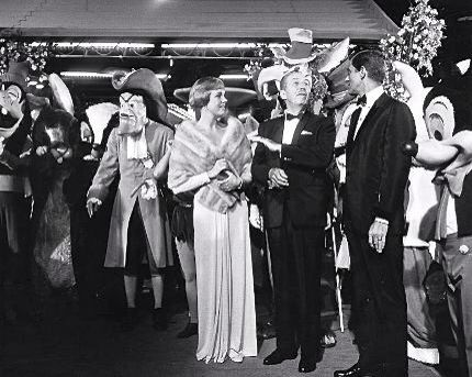 Walt Disney at Mary Poppins premiere.