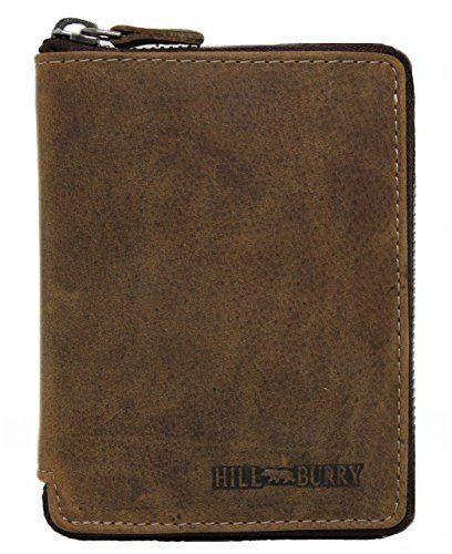 ce83c464d974c Geldbörse Leder Herren Damen Portemonnaie Portmonee Geldbeutel  Kredit-Kartenetui Wallet Brieftasche Organizer Vintage Hochformat aus  Echt-L…