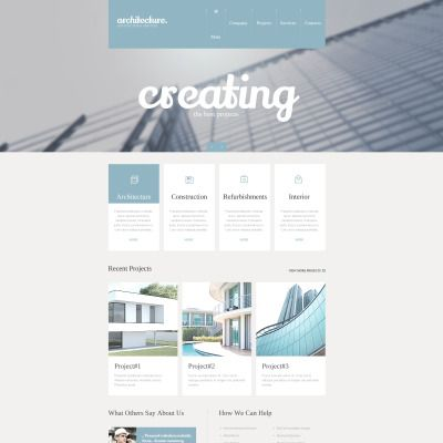 Website Theme for Construction Company Website