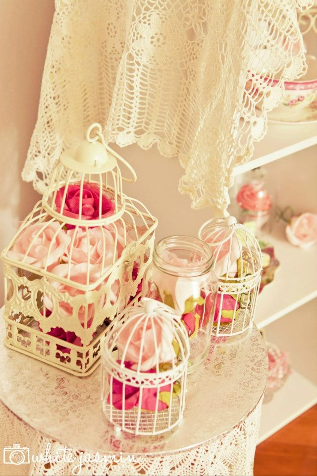 Cute Flower Filled Bird Cages Sweet Little Girls Tea Party By Your Unique  Party