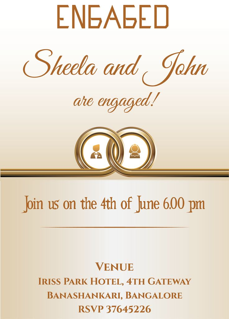 Grab Free Wordings For Indian Engagement/betrothal Event And Hindu  Engagement Ceremony. Copy The. Invitations ...  Format Of Engagement Invitation