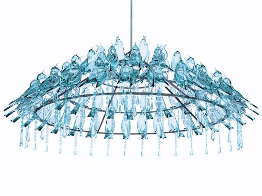 bird chandelier by wyatt little