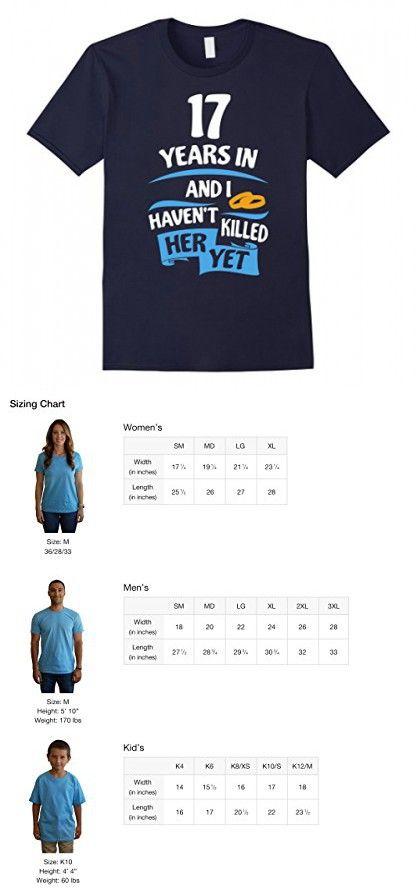 Mens 17th Wedding Anniversary Gift For Husband 17 Years Shirt 3xl Navy