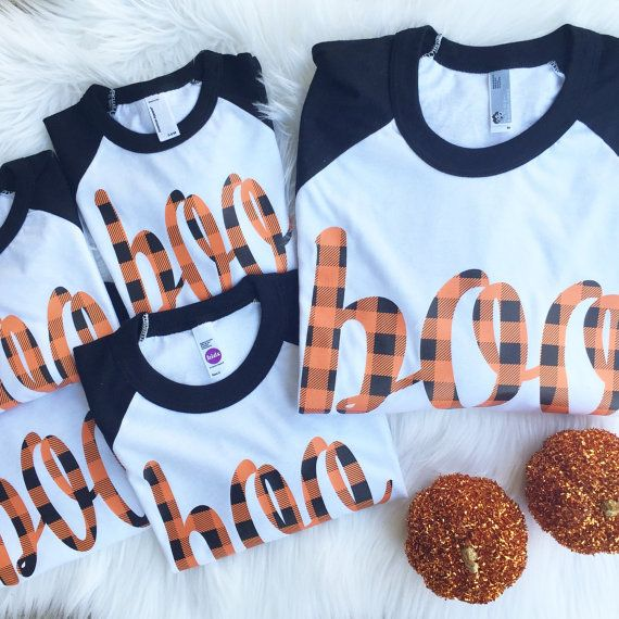 LADIES BOO Plaid Halloween Vinyl Applique Shirt by ohsweetsprouts