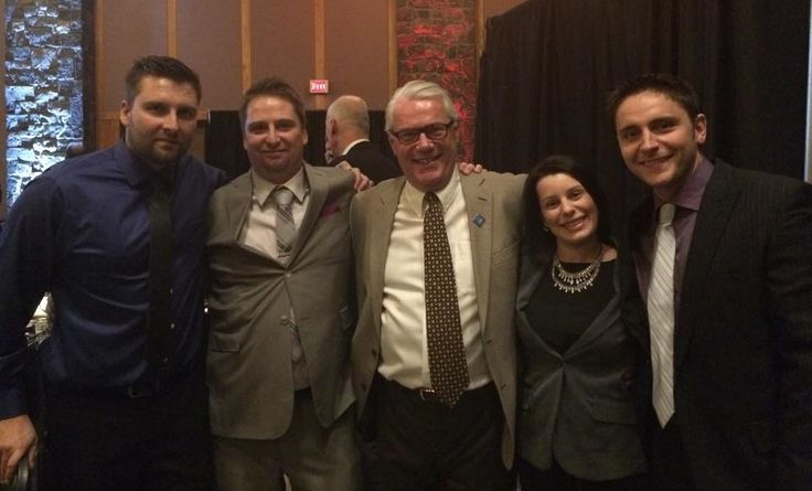 Playgrounds-R-Us Team with our Regional Sales Manager Bryan Sykora at the Annual Sales Meeting held in Minneapolis. From Left: Matthew Lacroix, Michael Lacroix, Bryan Sykora, Tracy Drake, Adam Areia.