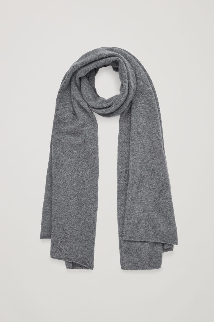 COS image 4 of Cashmere scarf in Grey