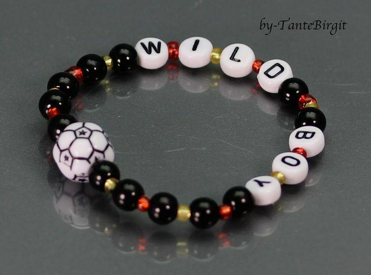 Fußball-Armband *wild boy* von TANBI-accessories:  Schmuckstücke für Kids und Erwachsene auf DaWanda.com