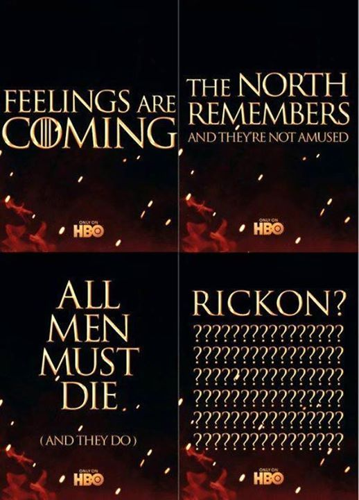 If Rickon doesn't come back at some point when he's older and reclaim the North as the new King in the North then I'll be so angry