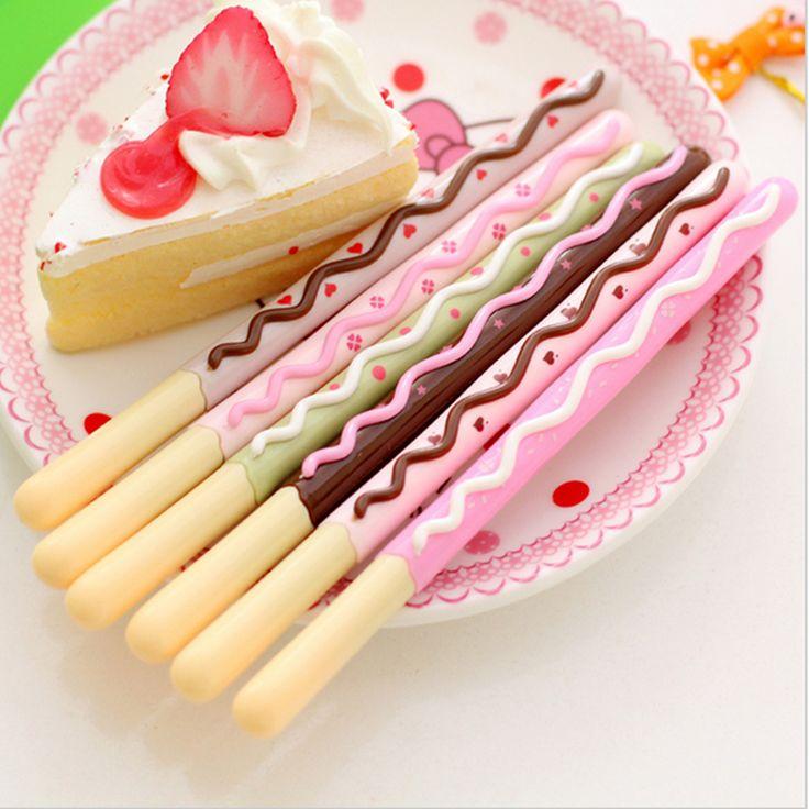 vara-de-chocolate-stabilo-bolo-gel-pen-bonito-canetas-caneta-lapices-boligrafos-kalem-material-escolar-papelaria